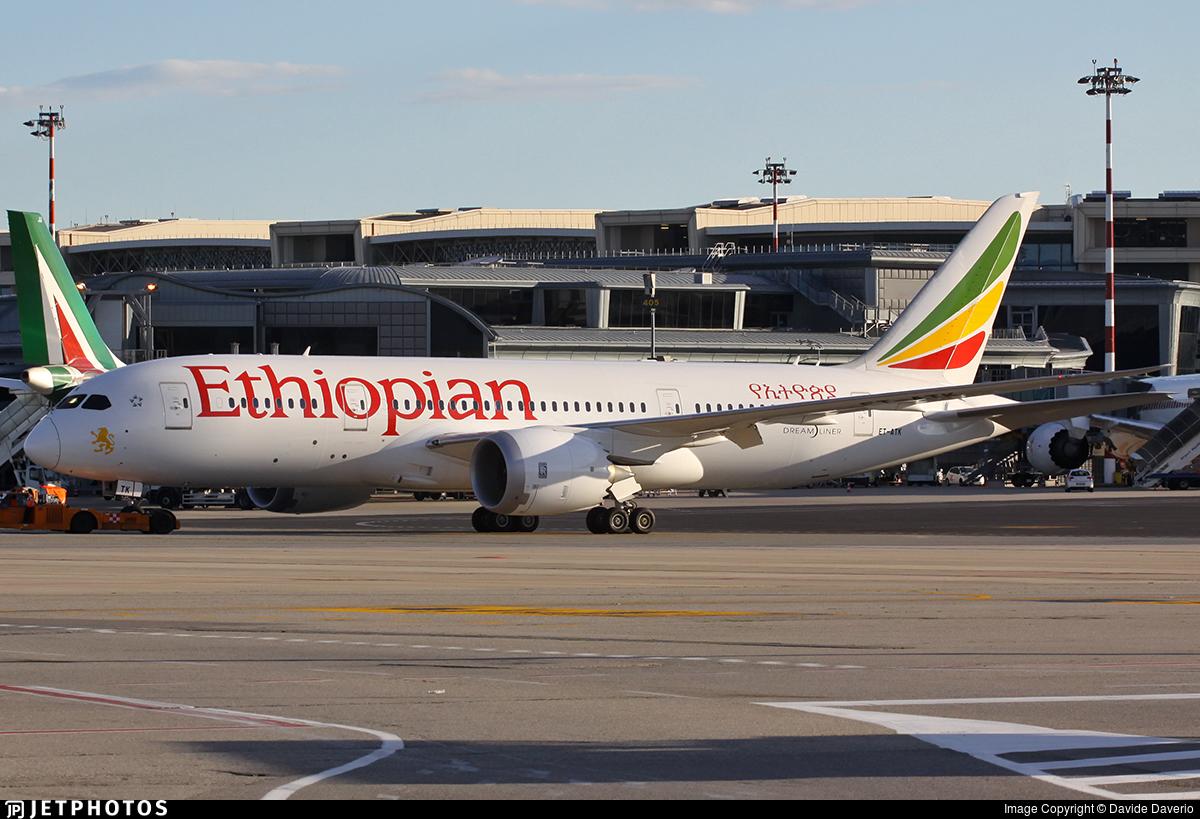 ET-ATK - Boeing 787-8 Dreamliner - Ethiopian Airlines