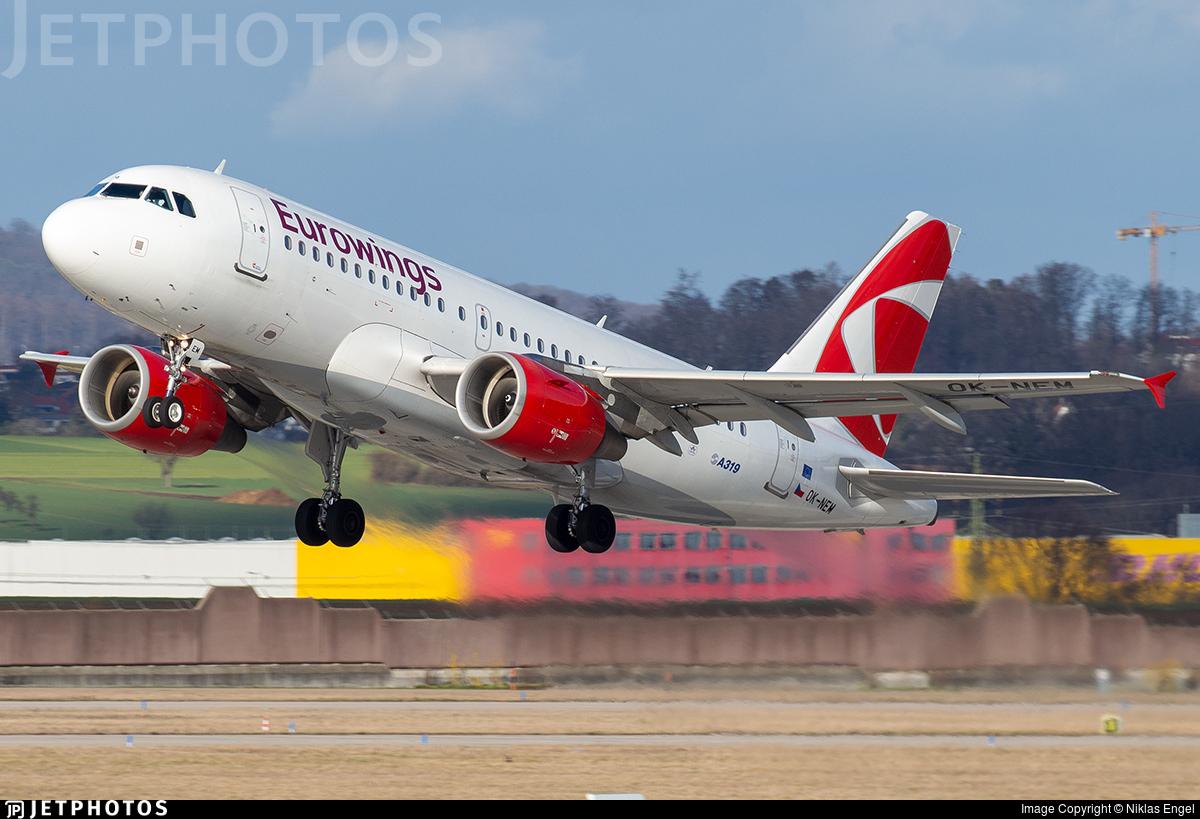 OK-NEM - Airbus A319-112 - Eurowings (CSA Czech Airlines)