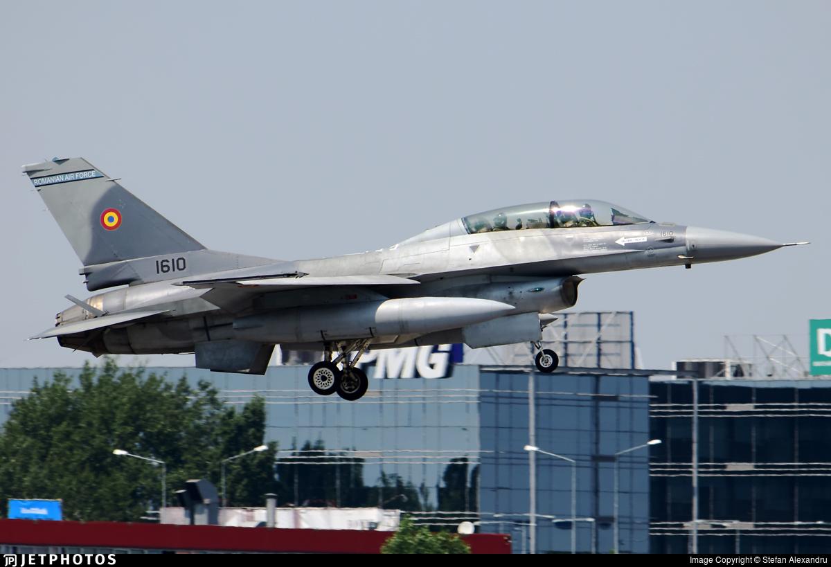 1610 - General Dynamics F-16BM Fighting Falcon - Romania - Air Force
