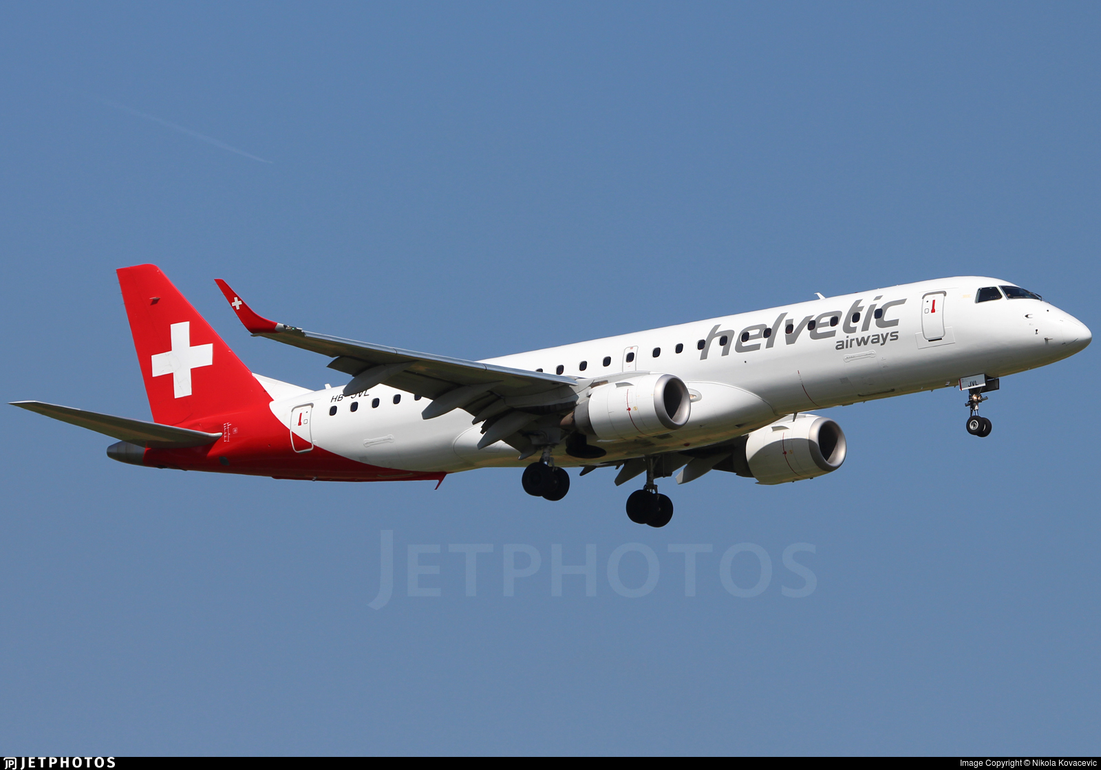 HB-JVL - Embraer 190-100LR - Helvetic Airways