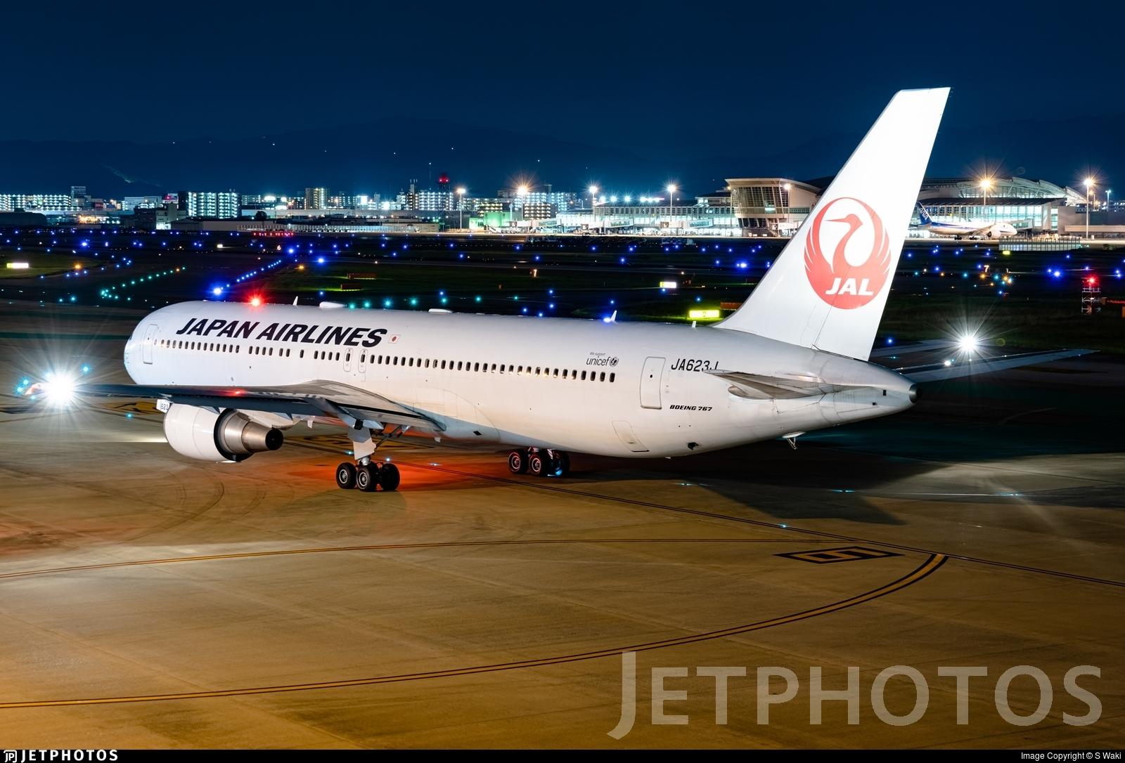 JA623J - Boeing 767-346(ER) - Japan Airlines (JAL)