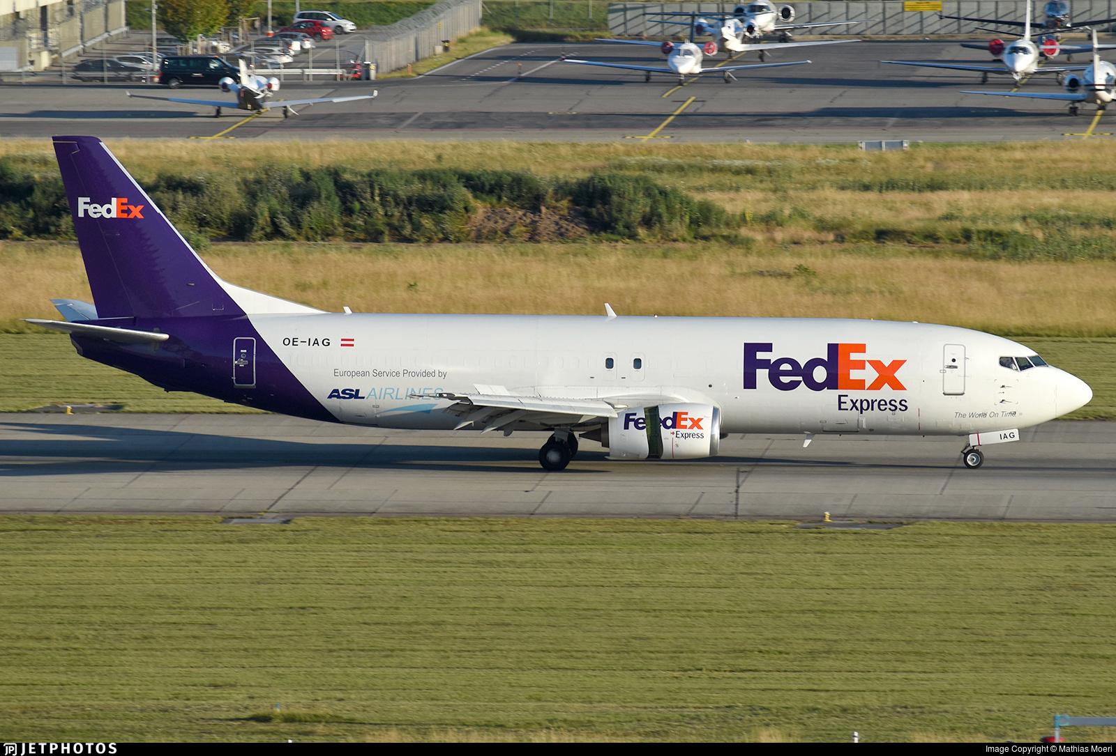 OE-IAG - Boeing 737-4Q8(SF) - FedEx (ASL Airlines)
