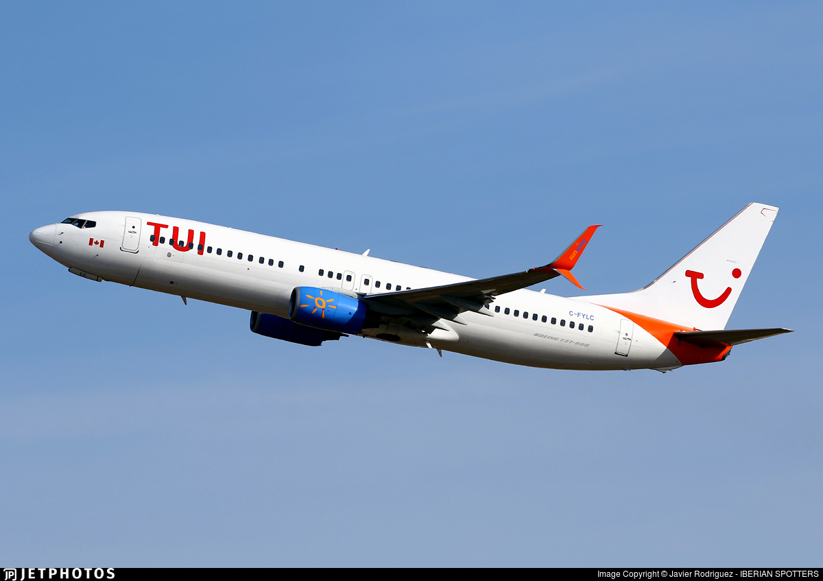 C-FYLC - Boeing 737-8BK - TUI (Sunwing Airlines)