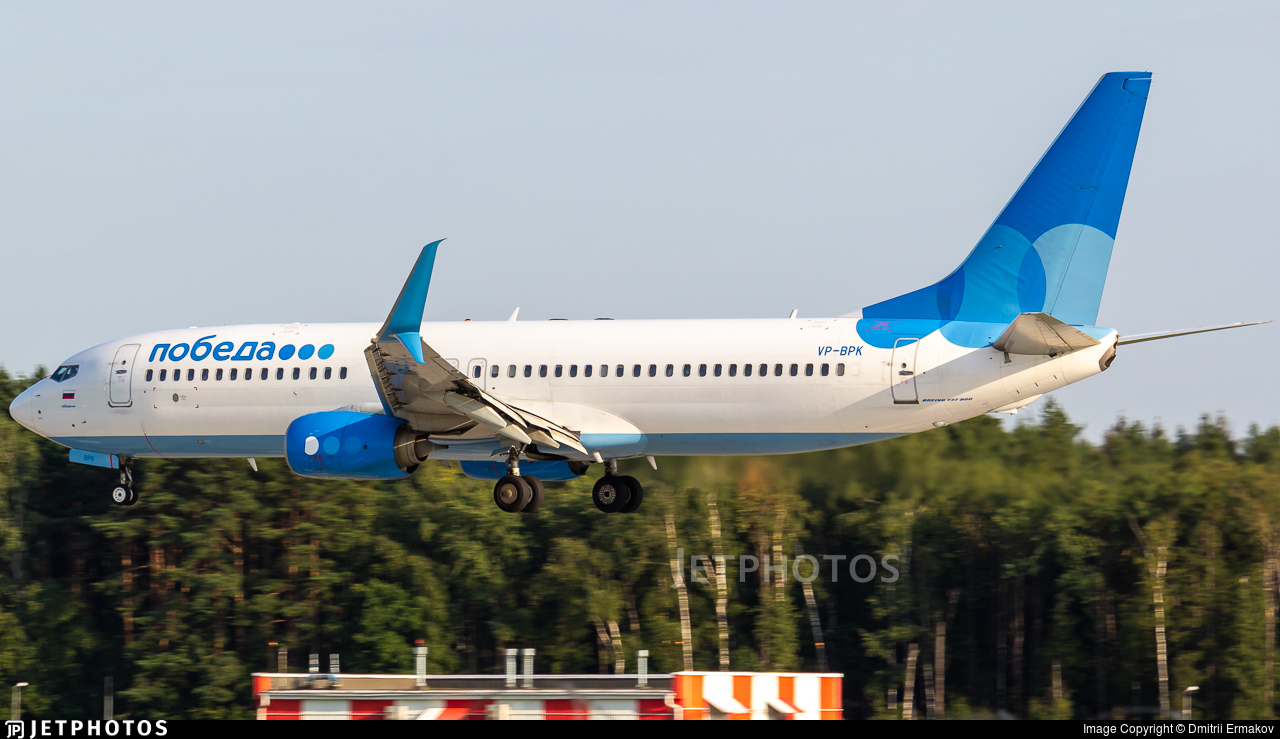 VP-BPK - Boeing 737-8AL - Pobeda
