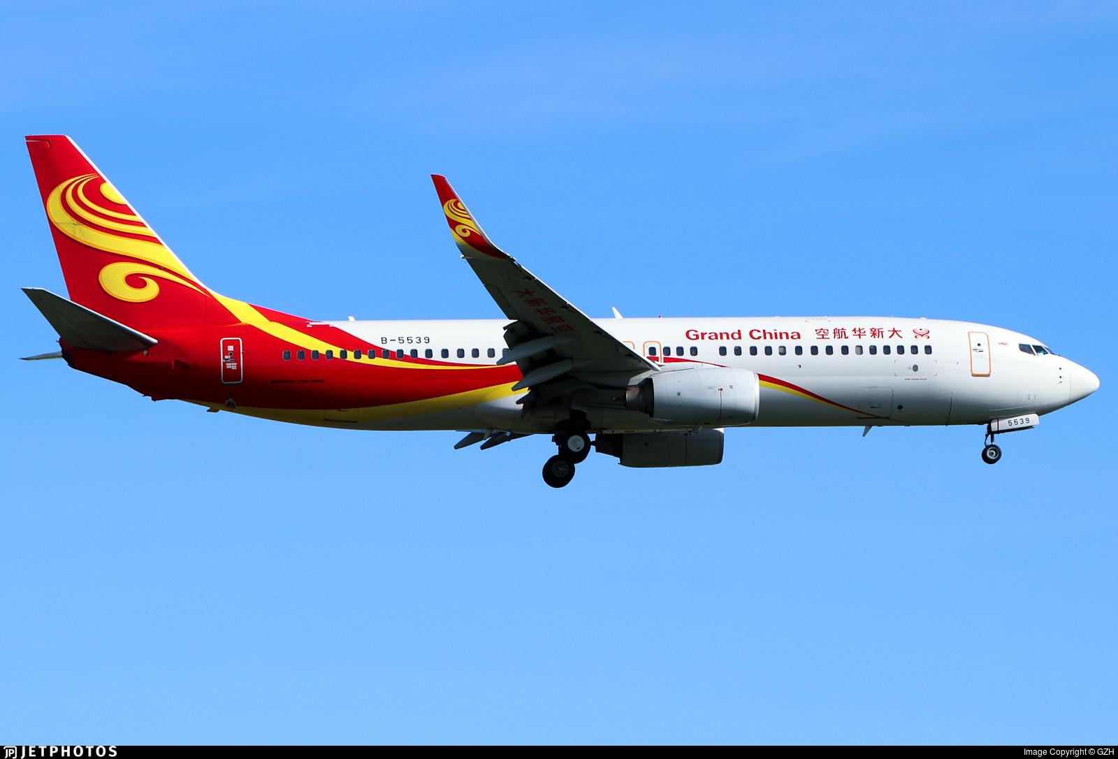 B-5539 - Boeing 737-84P - Grand China Air