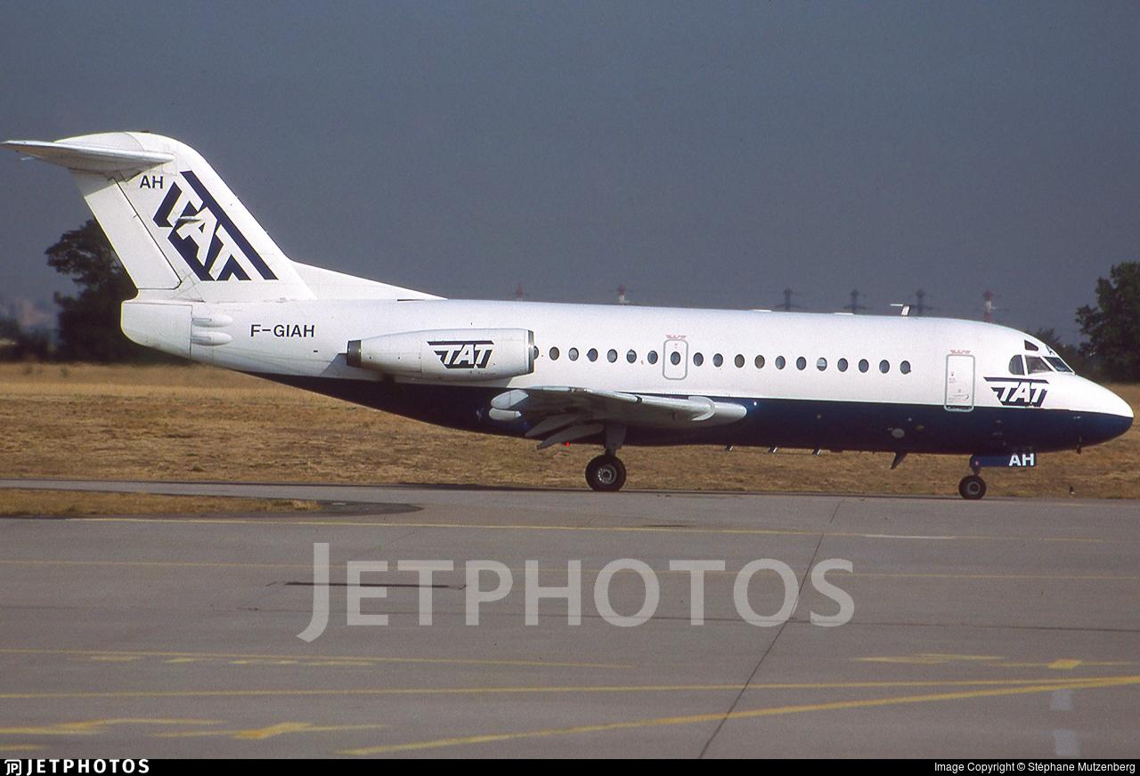 F-GIAH - Fokker F28-1000 Fellowship - TAT - Transport Aerien Transregional (La Poste)