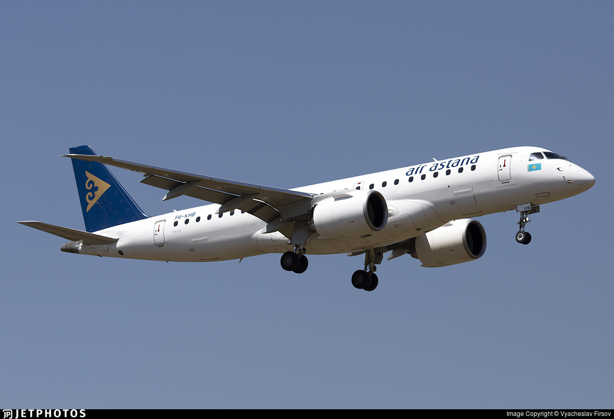 P4-KHB - Embraer 190-300STD - Air Astana