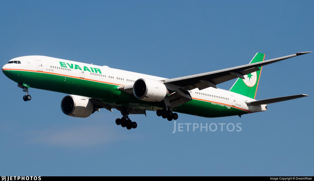 B-16705 - Boeing 777-35EER - Eva Air