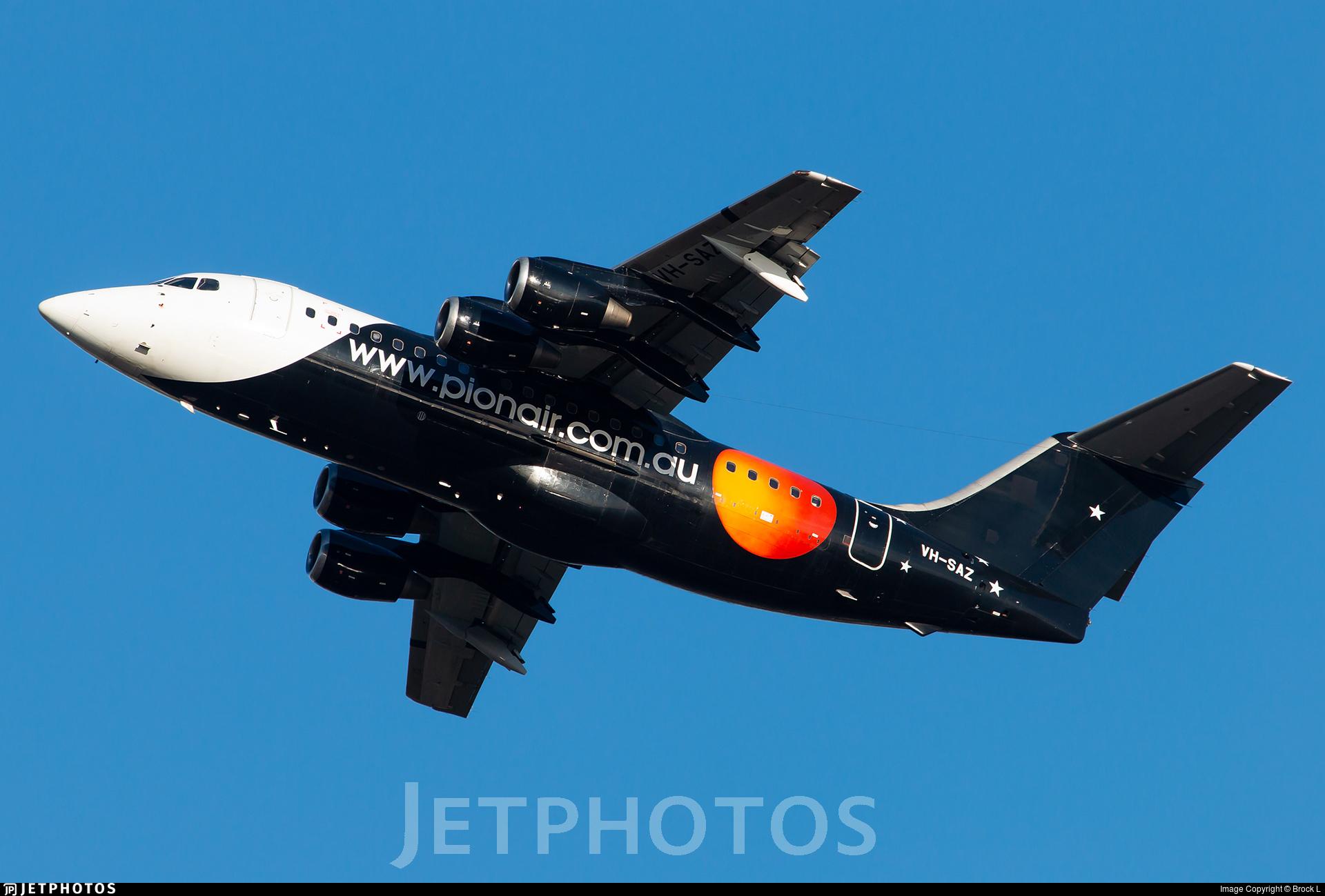 VH-SAZ - British Aerospace BAe 146-200 - Pionair