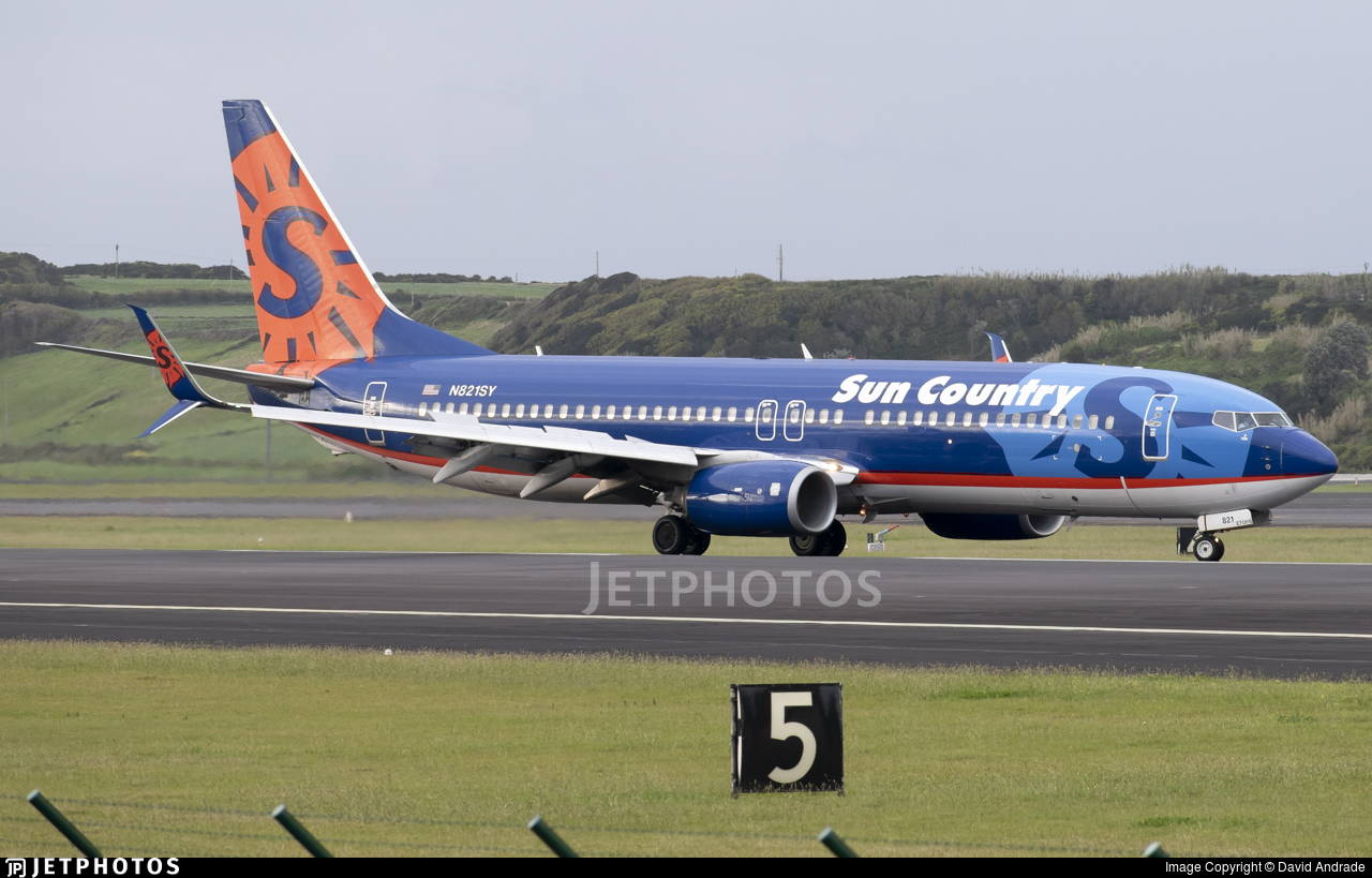 N821SY - Boeing 737-8FH - Sun Country Airlines