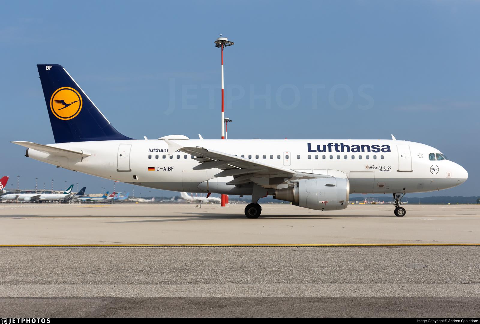D-AIBF - Airbus A319-112 - Lufthansa