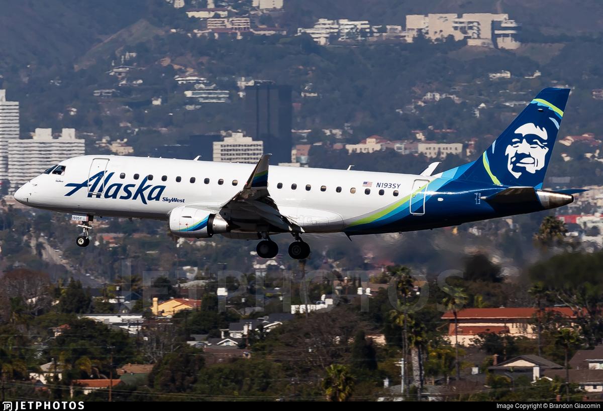 N193SY - Embraer 170-200LR - Alaska Airlines (Skywest Airlines)