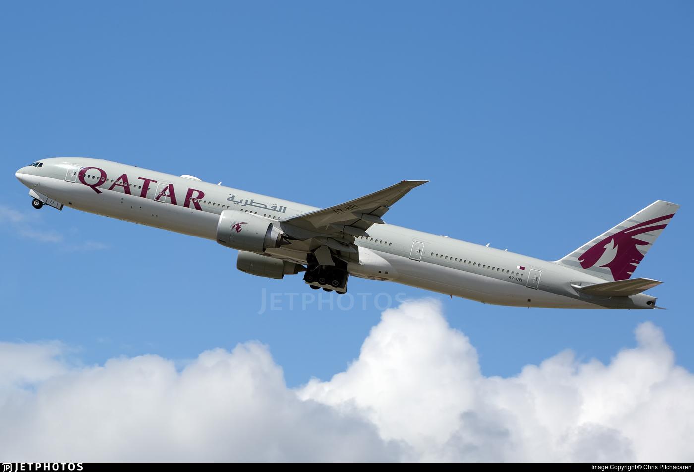 A7-BEI - Boeing 777-3DZER - Qatar Airways