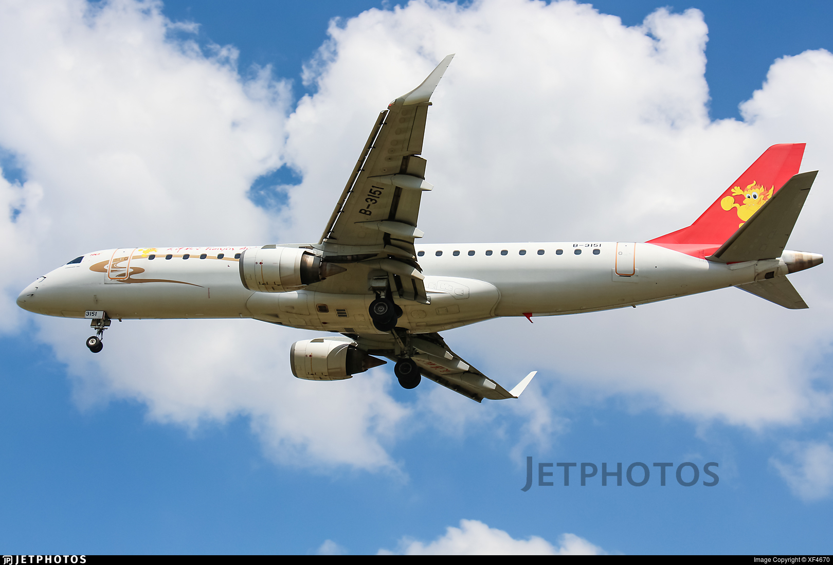 B-3151 - Embraer 190-100IGW - Tianjin Airlines