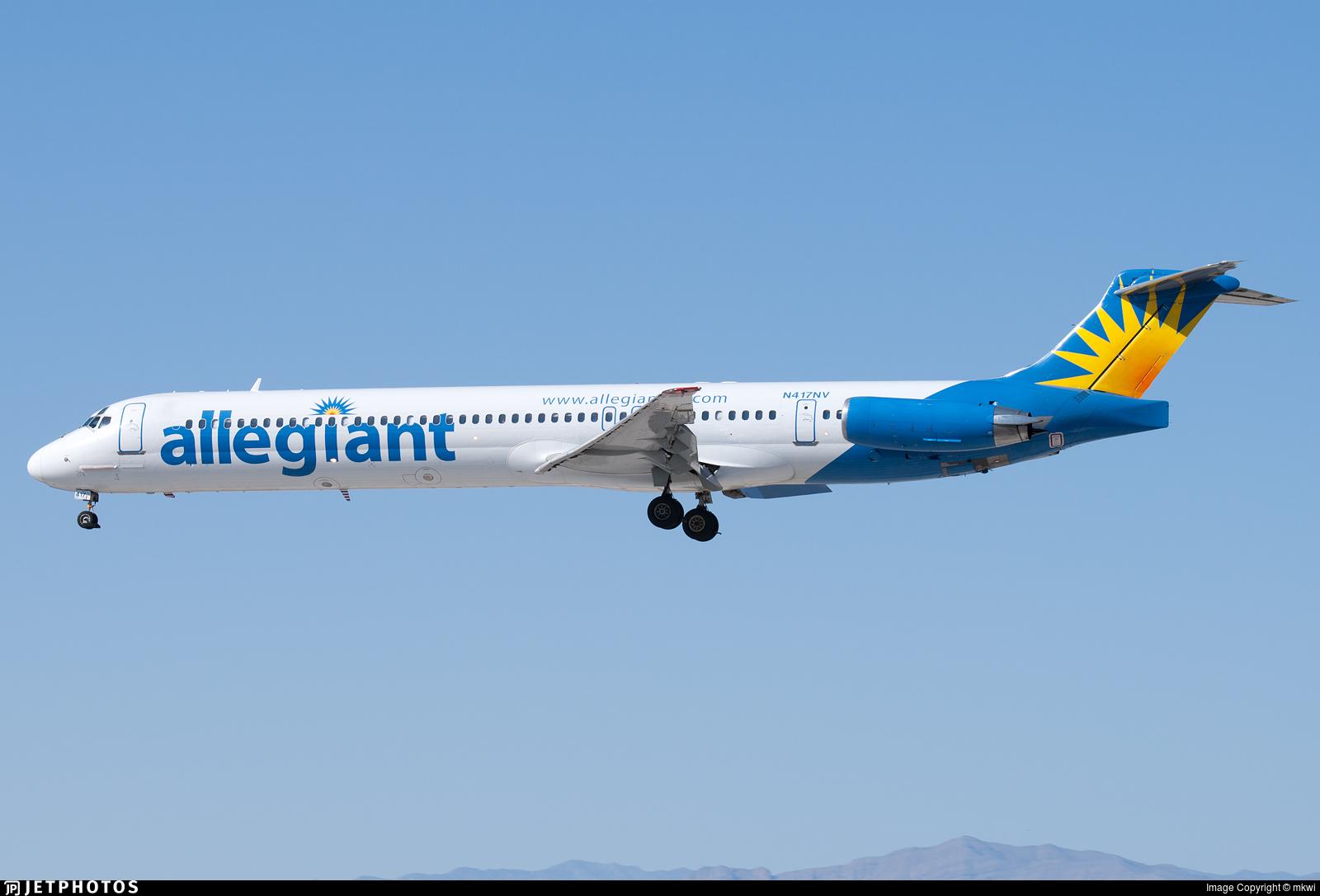 N417NV - McDonnell Douglas MD-83 - Allegiant Air