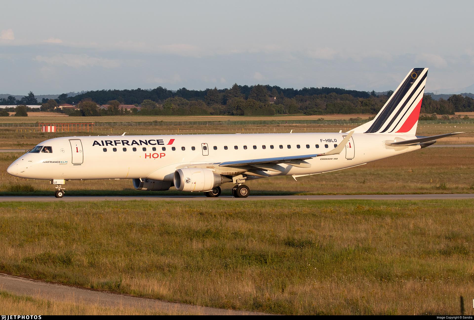 F-HBLO - Embraer 190-100STD - Air France HOP