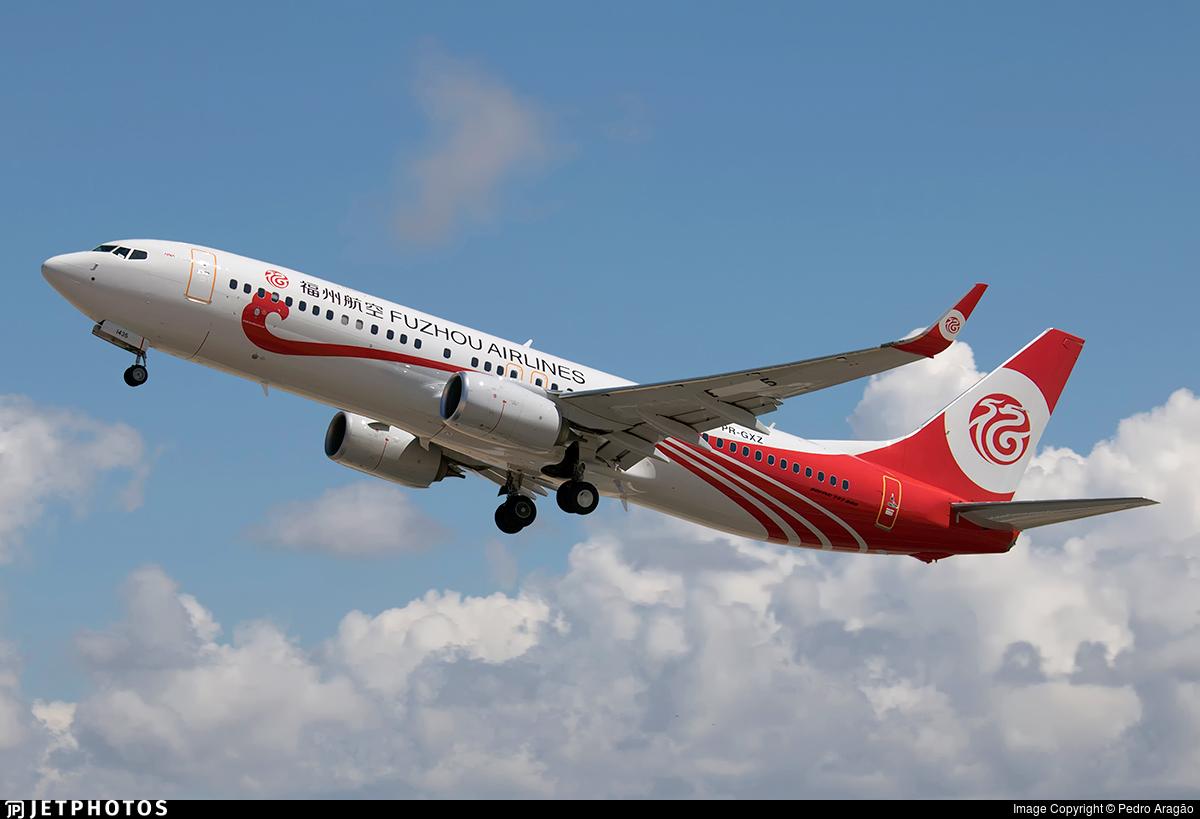 PR-GXZ - Boeing 737-8EH - Fuzhou Airlines