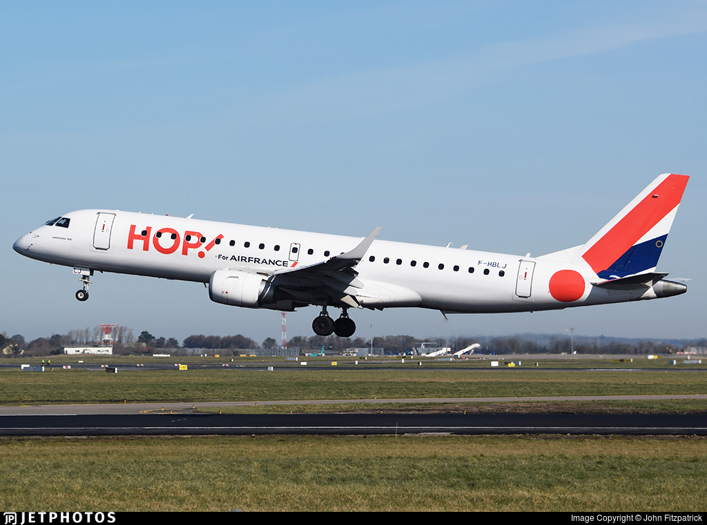 F-HBLJ - Embraer 190-100STD - HOP! for Air France