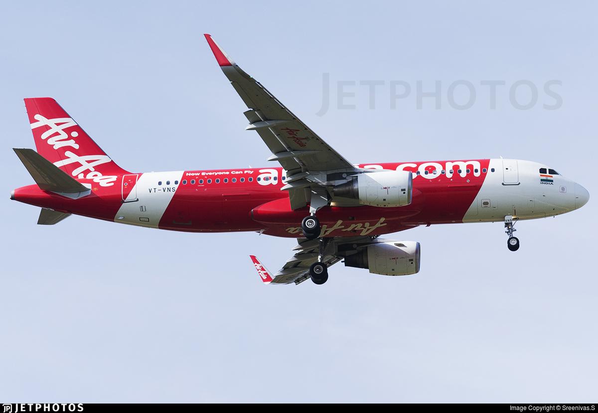 VT-VNS - Airbus A320-216 - AirAsia India
