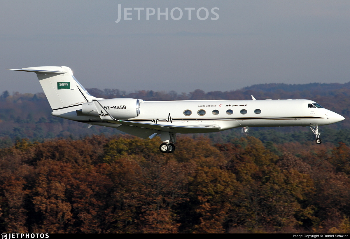 HZ-MS5B - Gulfstream G-V - Saudi Arabia - Aeromedical Evacuation