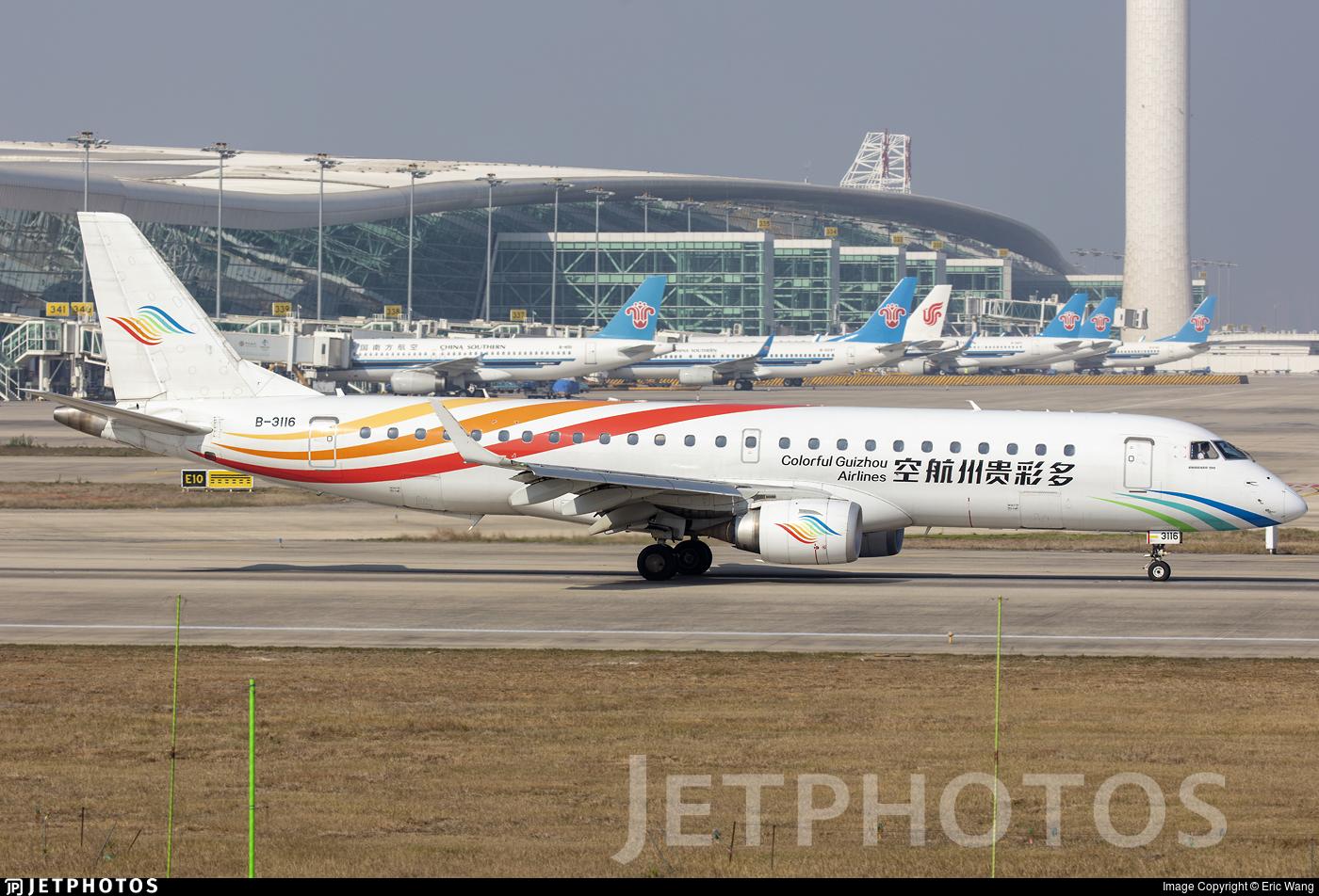 B-3116 - Embraer 190-100LR - Colorful Guizhou Airlines