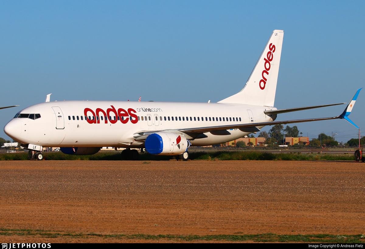 LV-HLK - Boeing 737-8K5 - Andes Líneas Aéreas