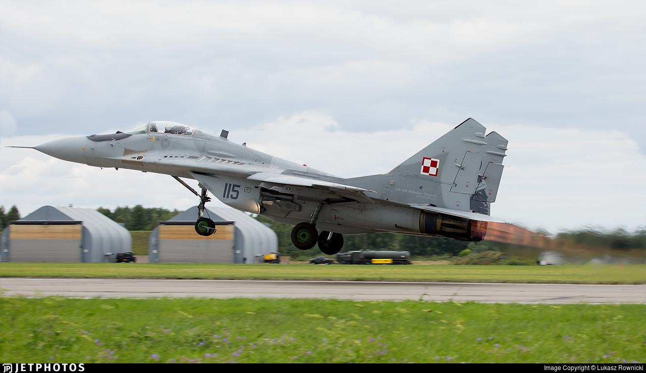 115 - Mikoyan-Gurevich MiG-29A Fulcrum - Poland - Air Force