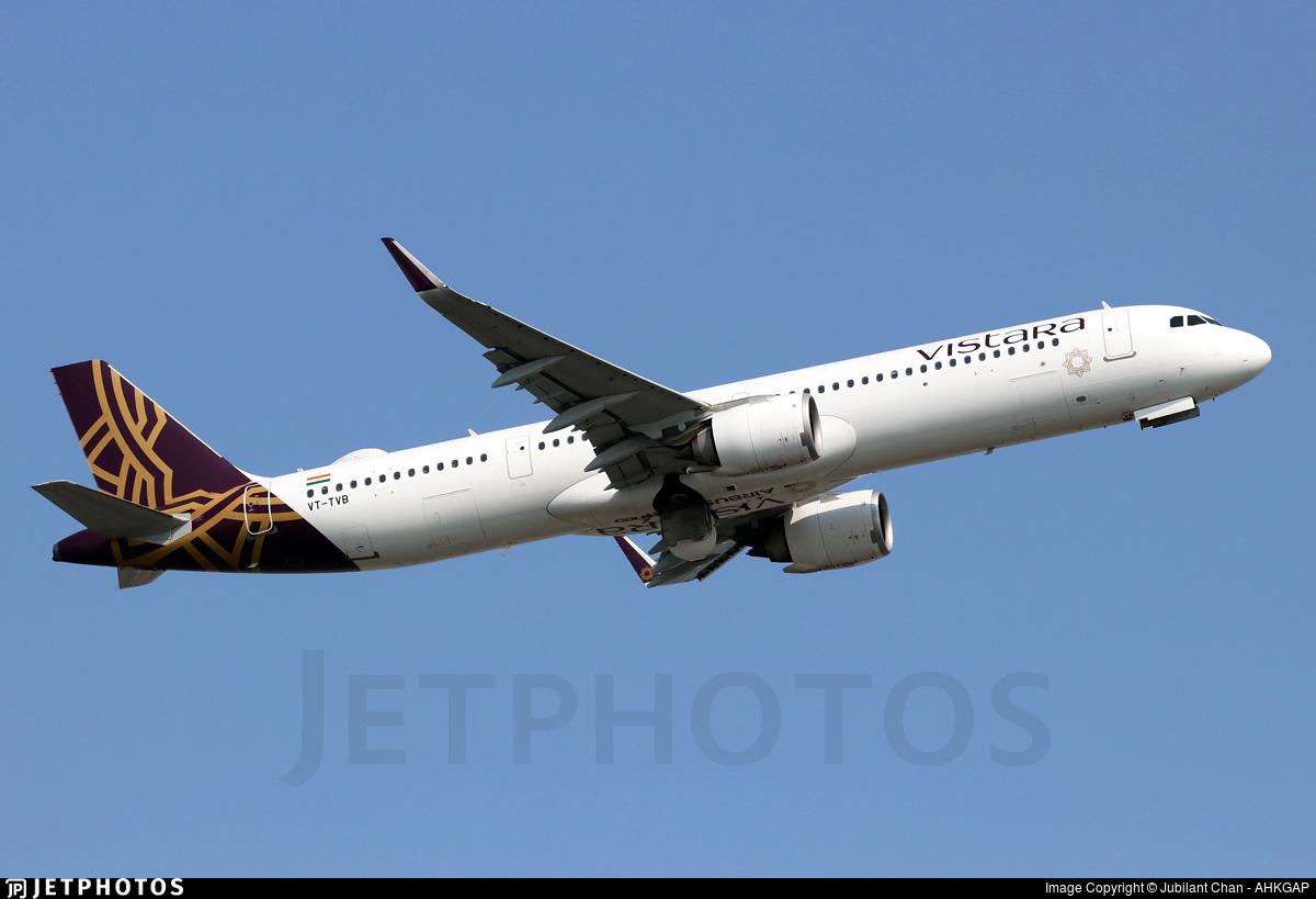 VT-TVB - Airbus A321-251NX - Vistara