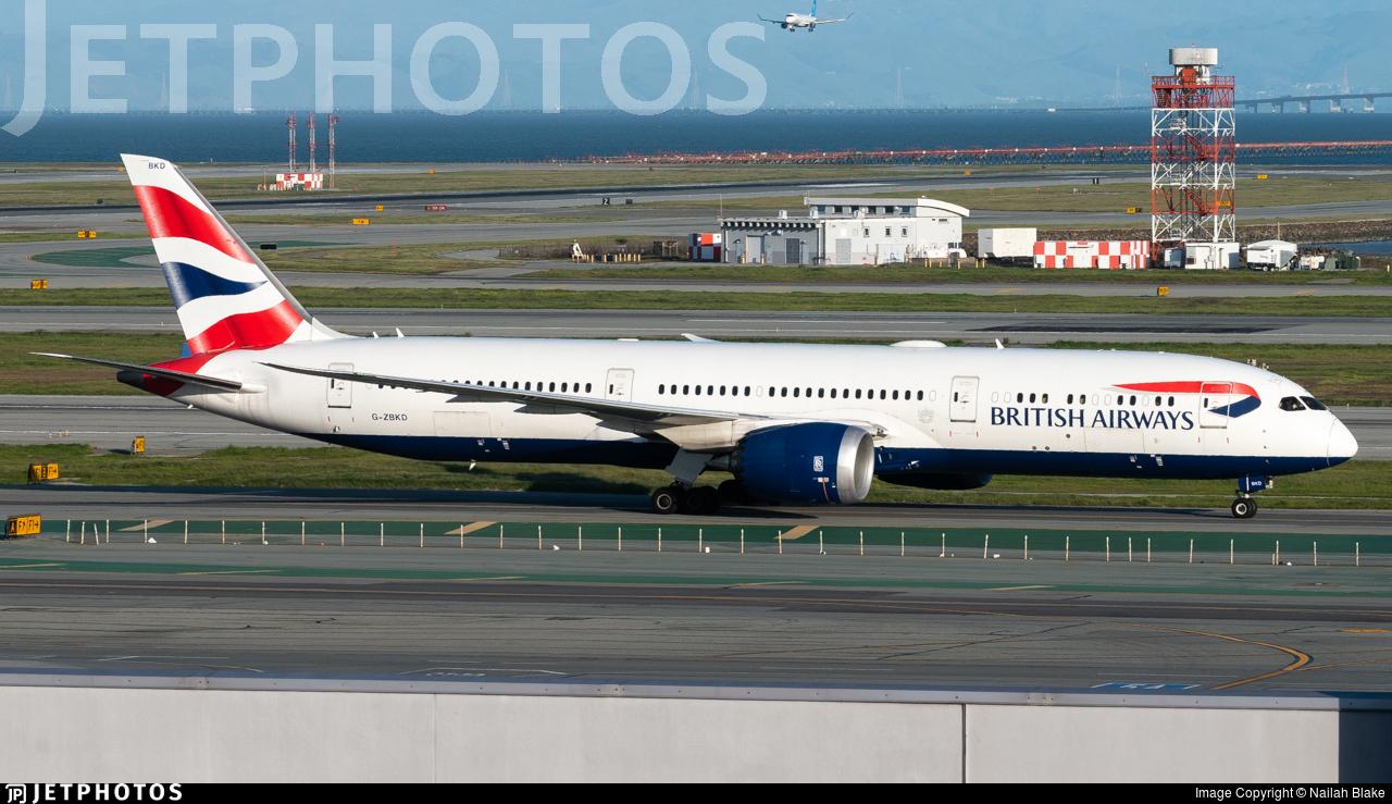 G-ZBKD - Boeing 787-9 Dreamliner - British Airways