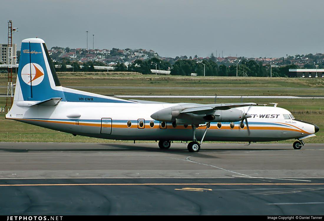 VH-EWR - Fokker F27-500 Friendship - East-West Airlines