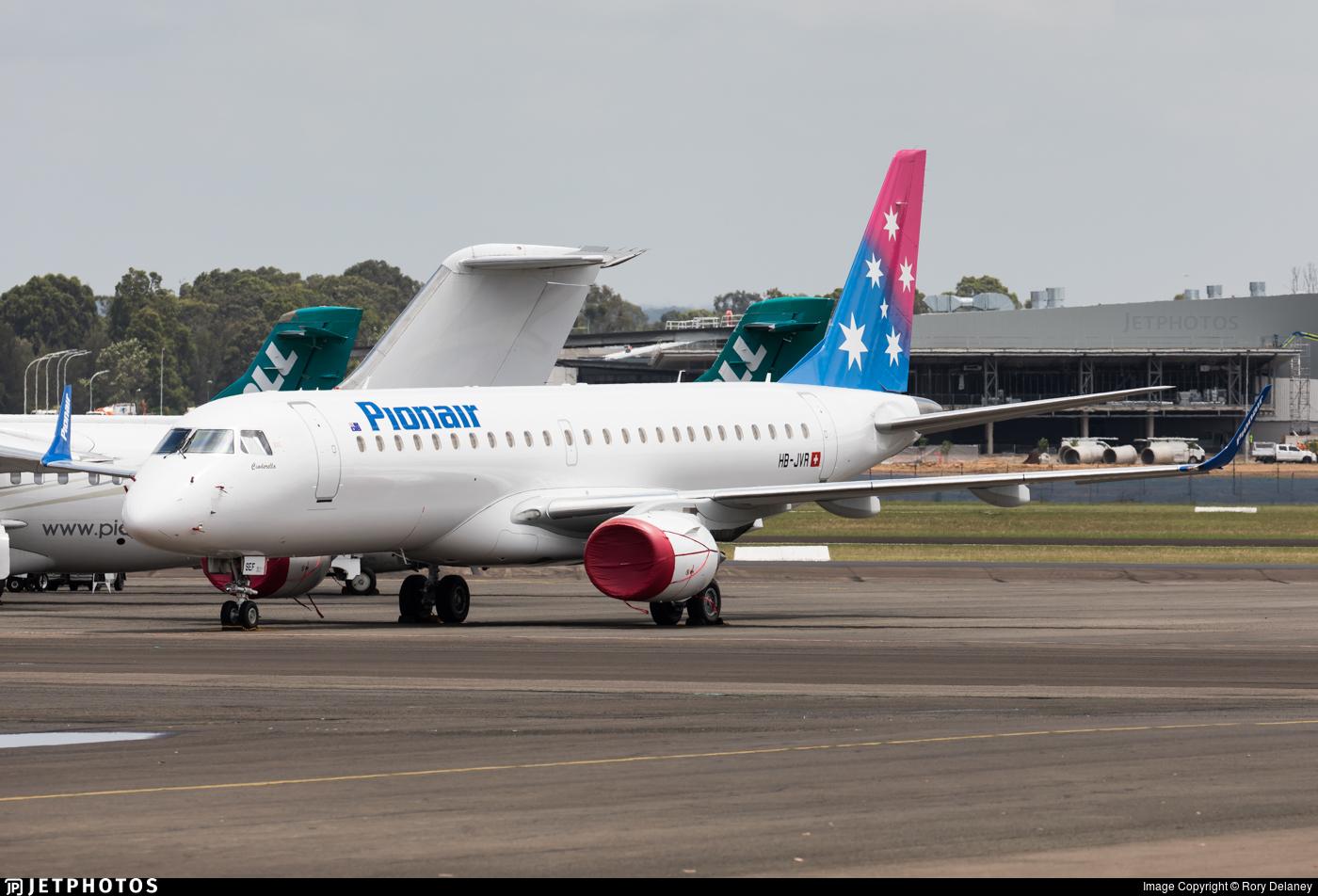 HB-JVR - Embraer 190-100LR - Pionair