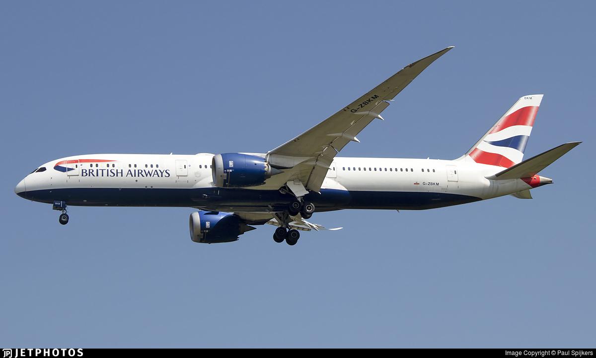 G-ZBKM - Boeing 787-9 Dreamliner - British Airways