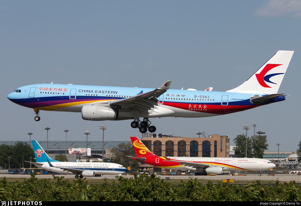 B 5943 airbus a330 243 china eastern airlines danny yu jetphotos - China eastern airlines vietnam office ...