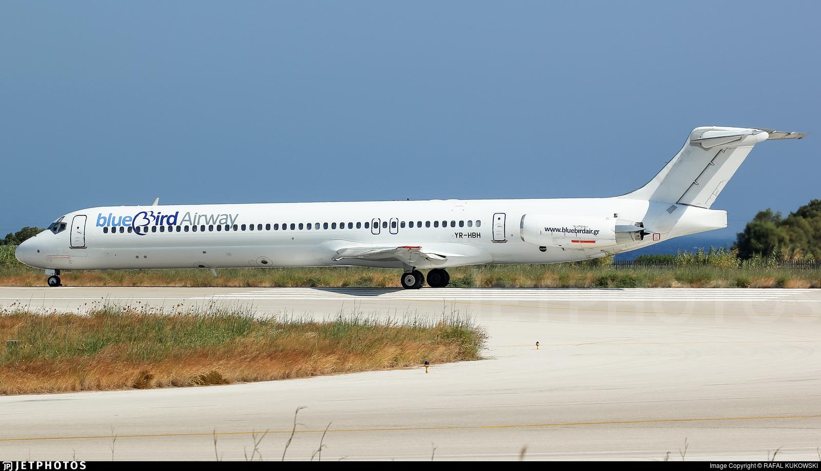 YR-HBH - McDonnell Douglas MD-83 - Bluebird Airways