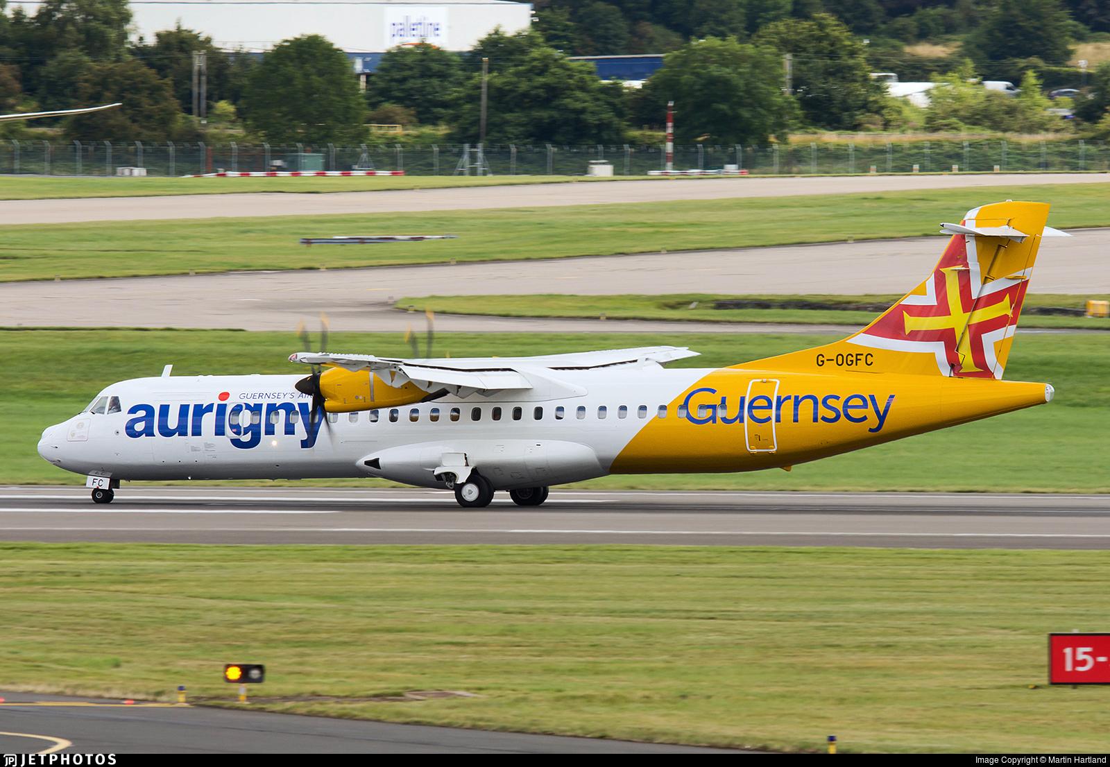 G-OGFC - ATR 72-212A(600) - Aurigny Air Services