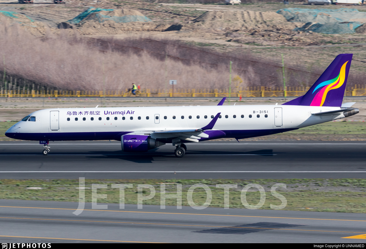 B-3151 - Embraer 190-100IGW - Urumqi Air