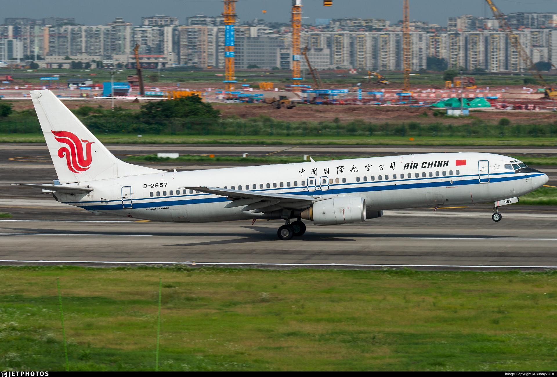 B-2657 - Boeing 737-89L - Air China