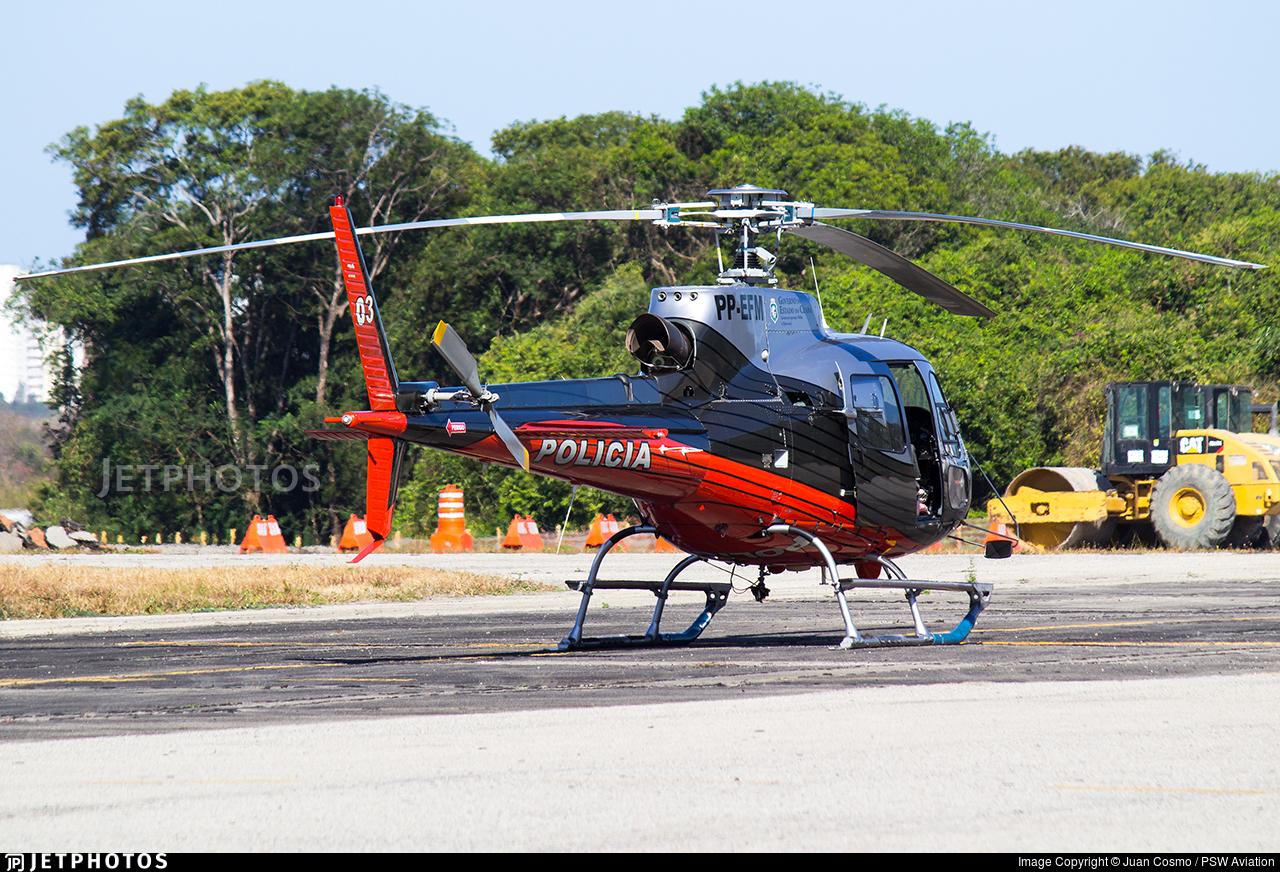 PP-EFM - Eurocopter AS 350B2 Ecureuil - Brazil - Military Police
