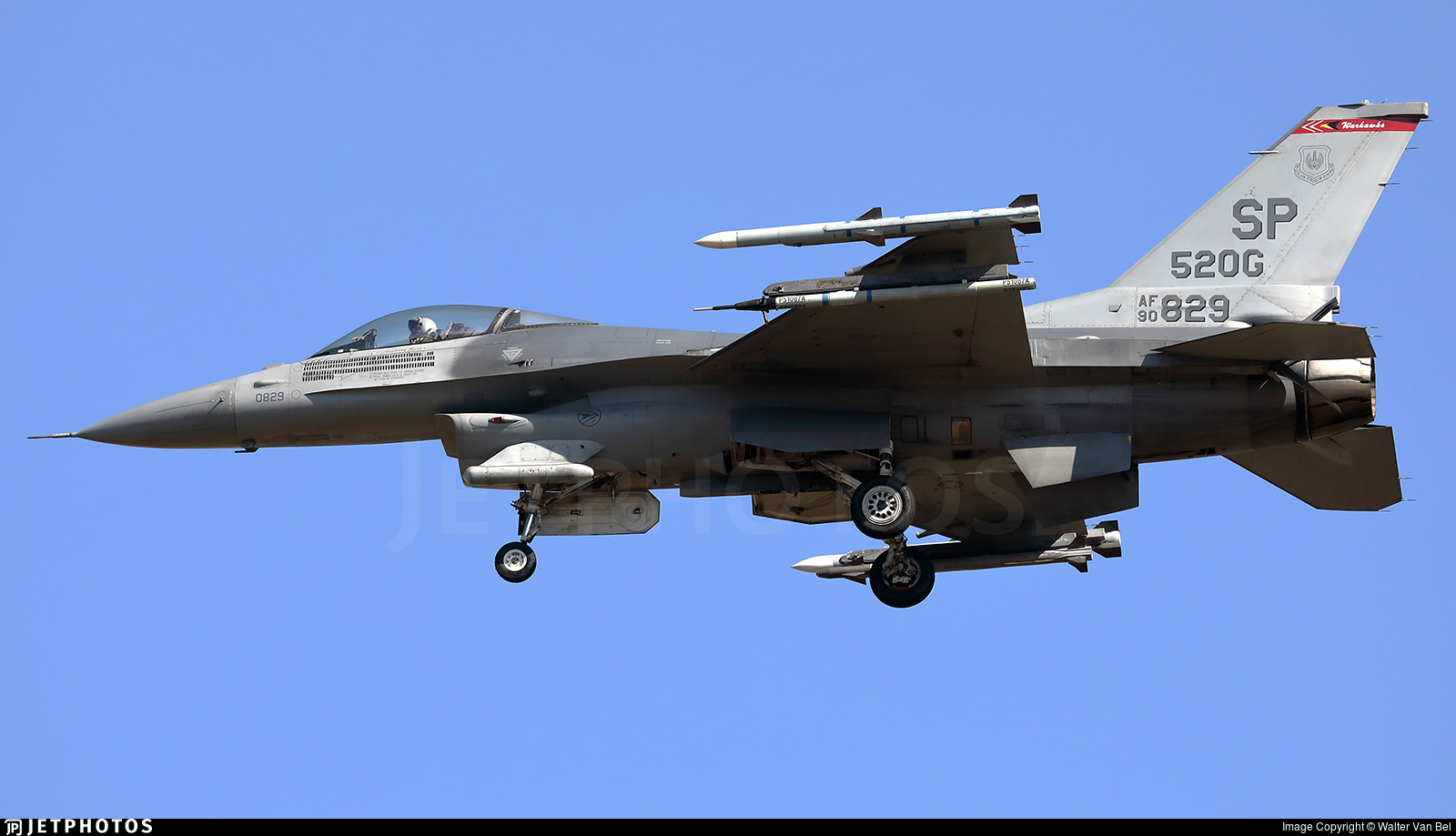 90-0829 - General Dynamics F-16CM Fighting Falcon - United States - US Air Force (USAF)