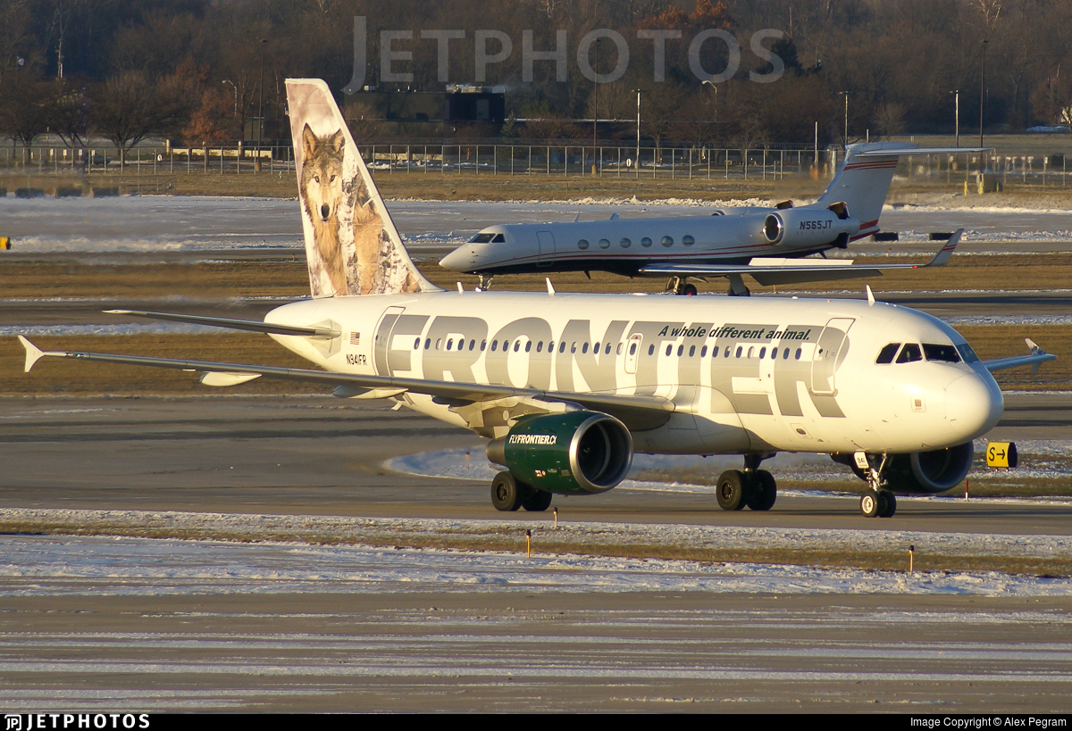 N941fr Airbus A319 112 Frontier Airlines Alex Pegram
