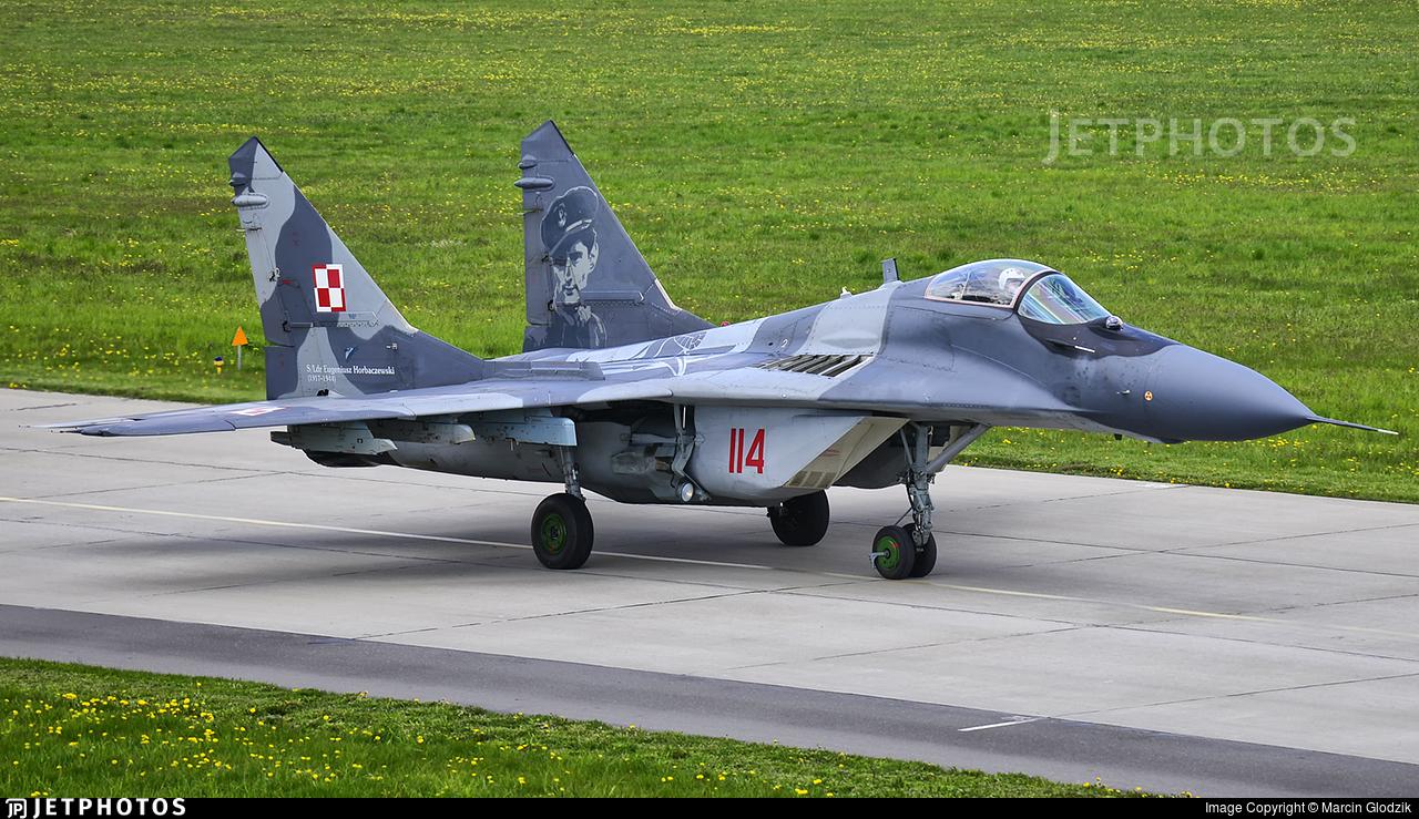114 - Mikoyan-Gurevich MiG-29A Fulcrum - Poland - Air Force