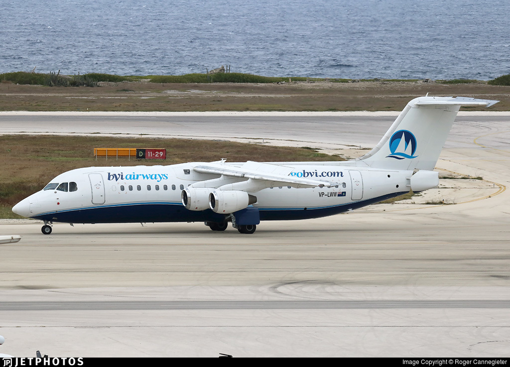 VPLWW  British Aerospace Avro RJ100  BVI Airways  JetPhotos