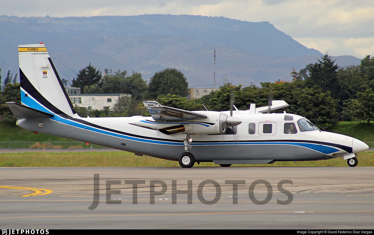 FAC5553 - Rockwell 695 Jetprop 980 - Colombia - Air Force