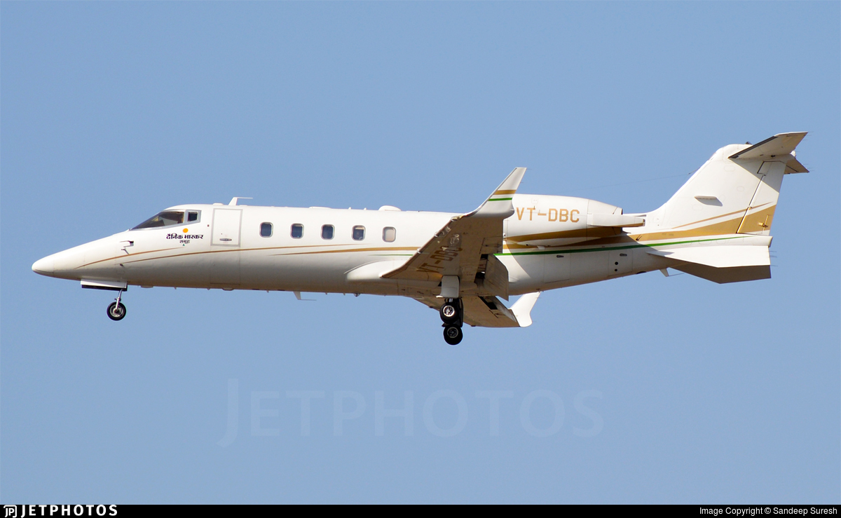 VT-DBC - Bombardier Learjet 60XR - Private