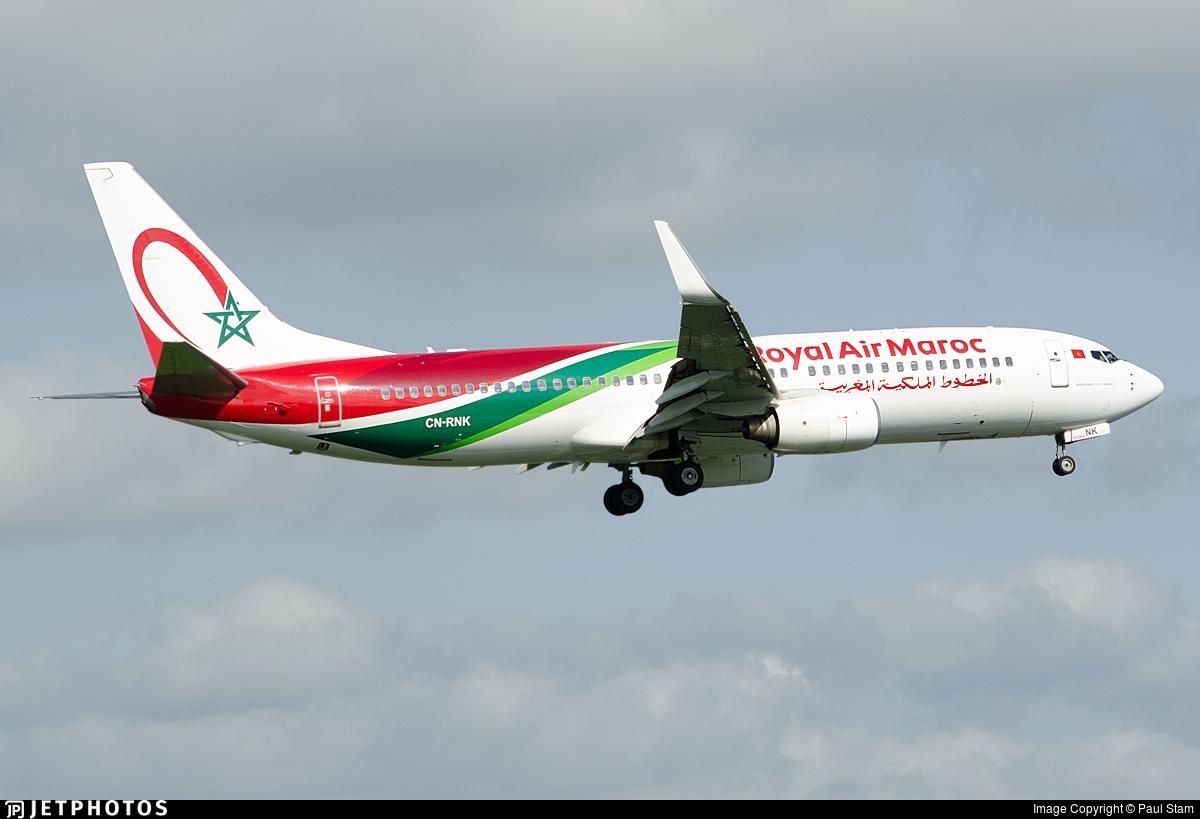 CN-RNK - Boeing 737-8B6 - Royal Air Maroc (RAM)