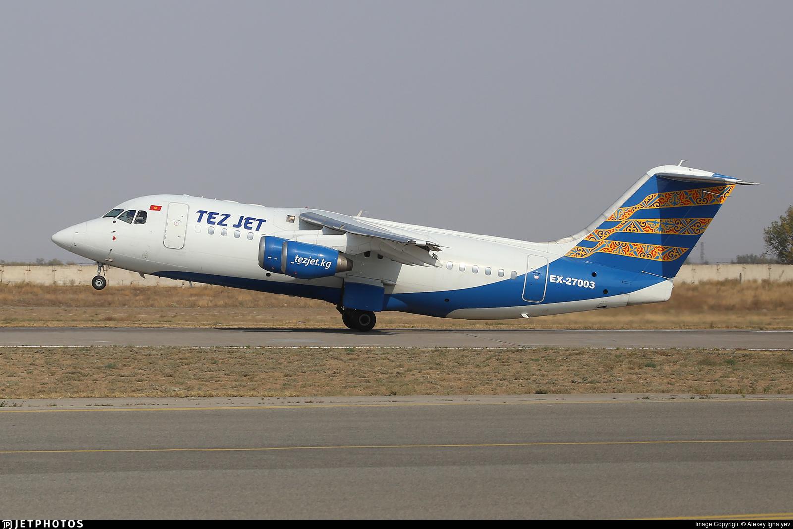EX-27003 - British Aerospace BAe 146-200 - TezJet Air Company