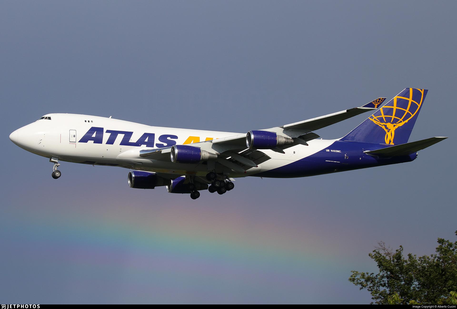 N493MC - Boeing 747-47U(F) - Atlas Air