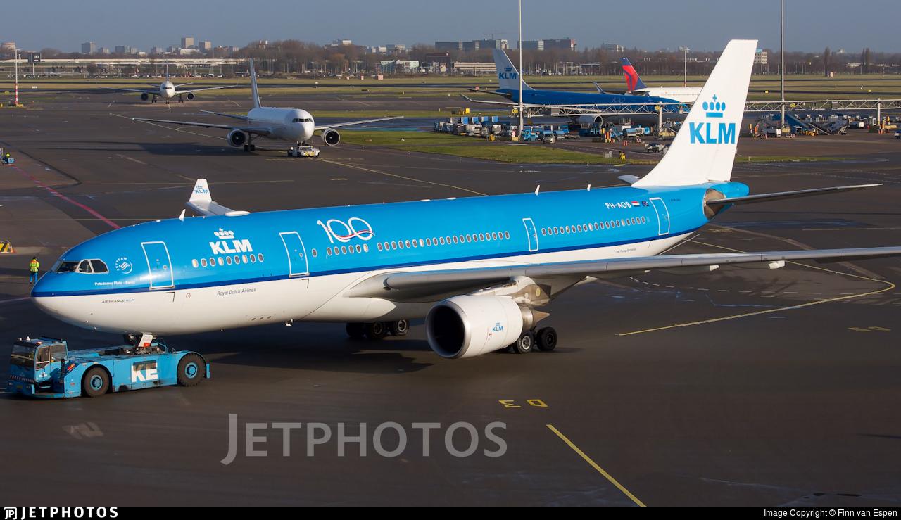 PH-AOB - Airbus A330-203 - KLM Royal Dutch Airlines