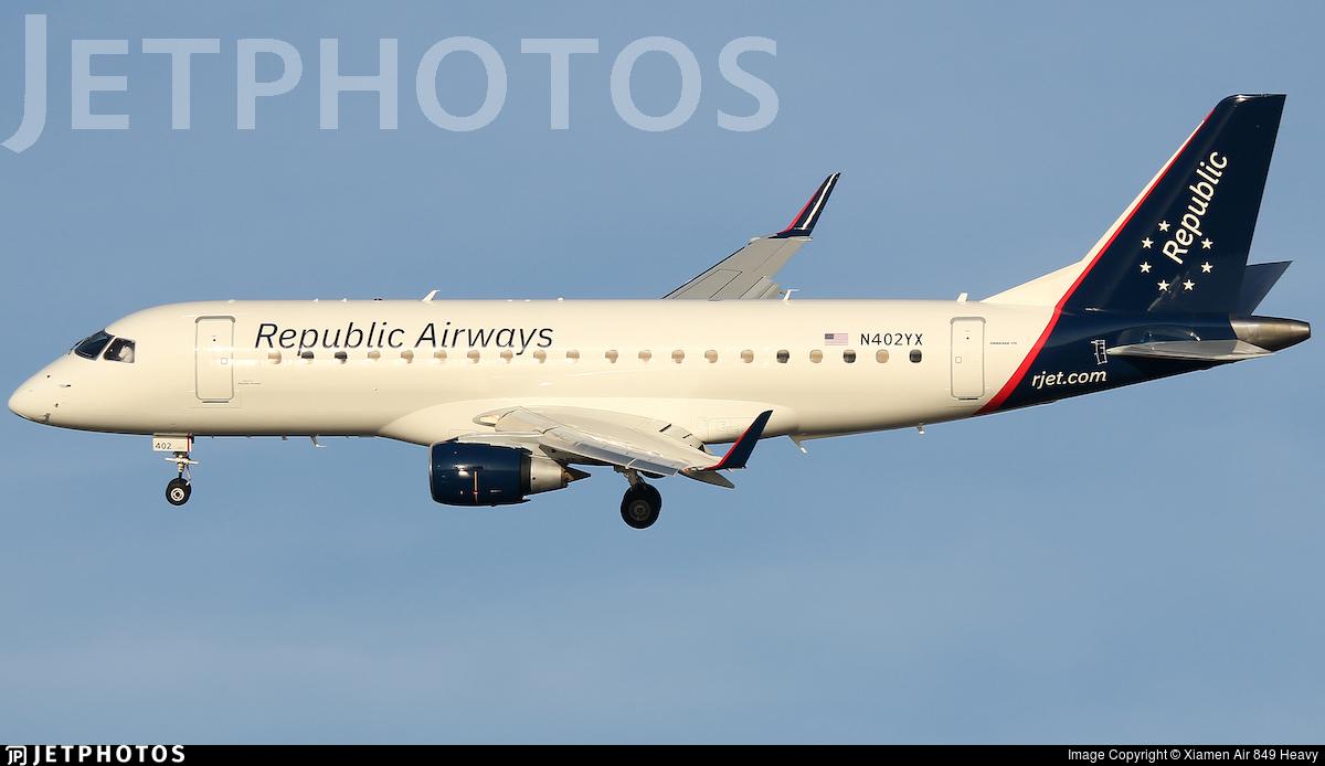 N402YX - Embraer 170-200LR - Republic Airways