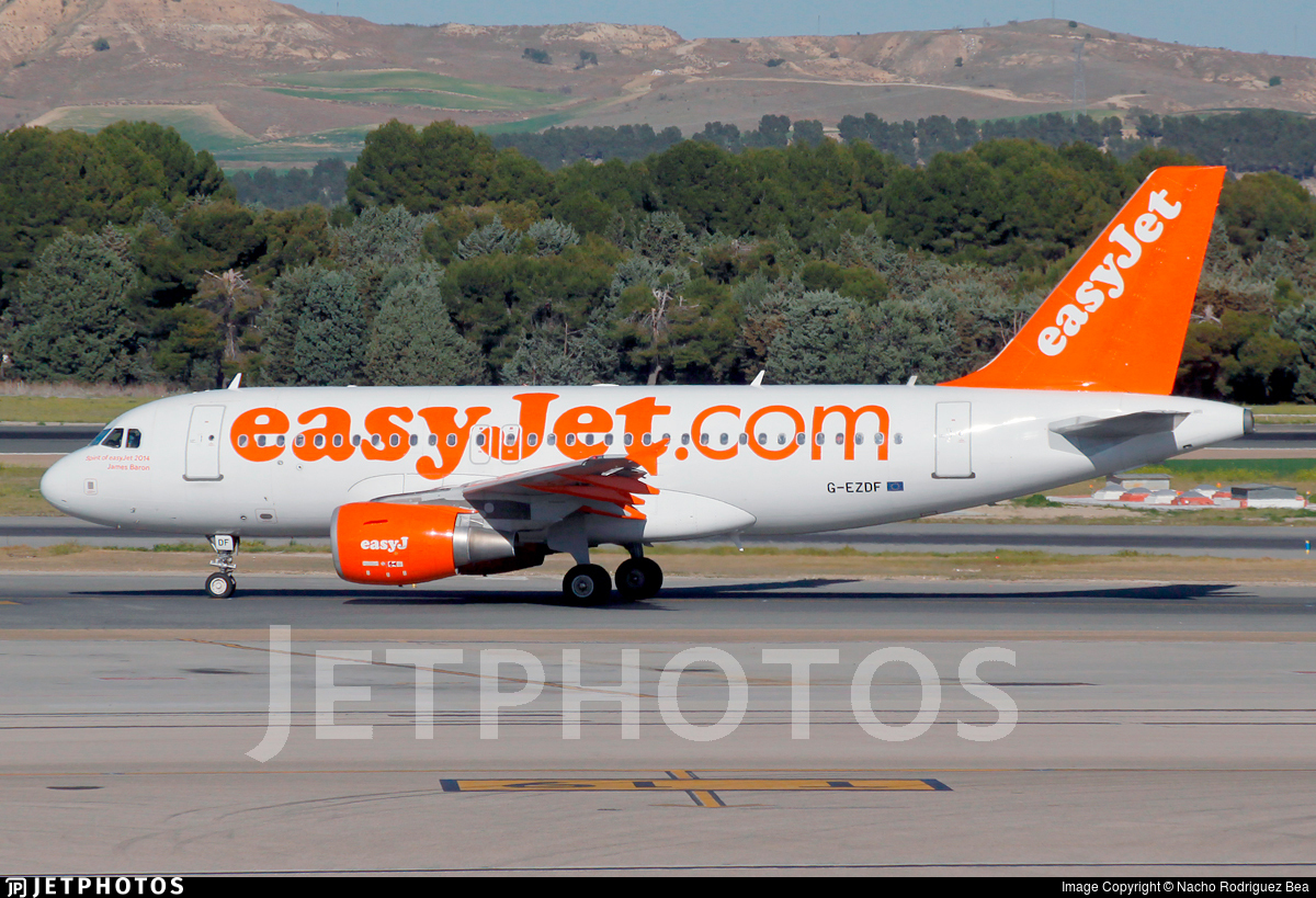 G-EZDF - Airbus A319-111 - easyJet
